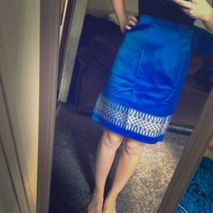 Thailand Print Wrap Skirt NWOT